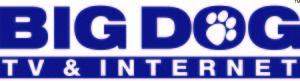 big dog satellite tv vector logo - & copy