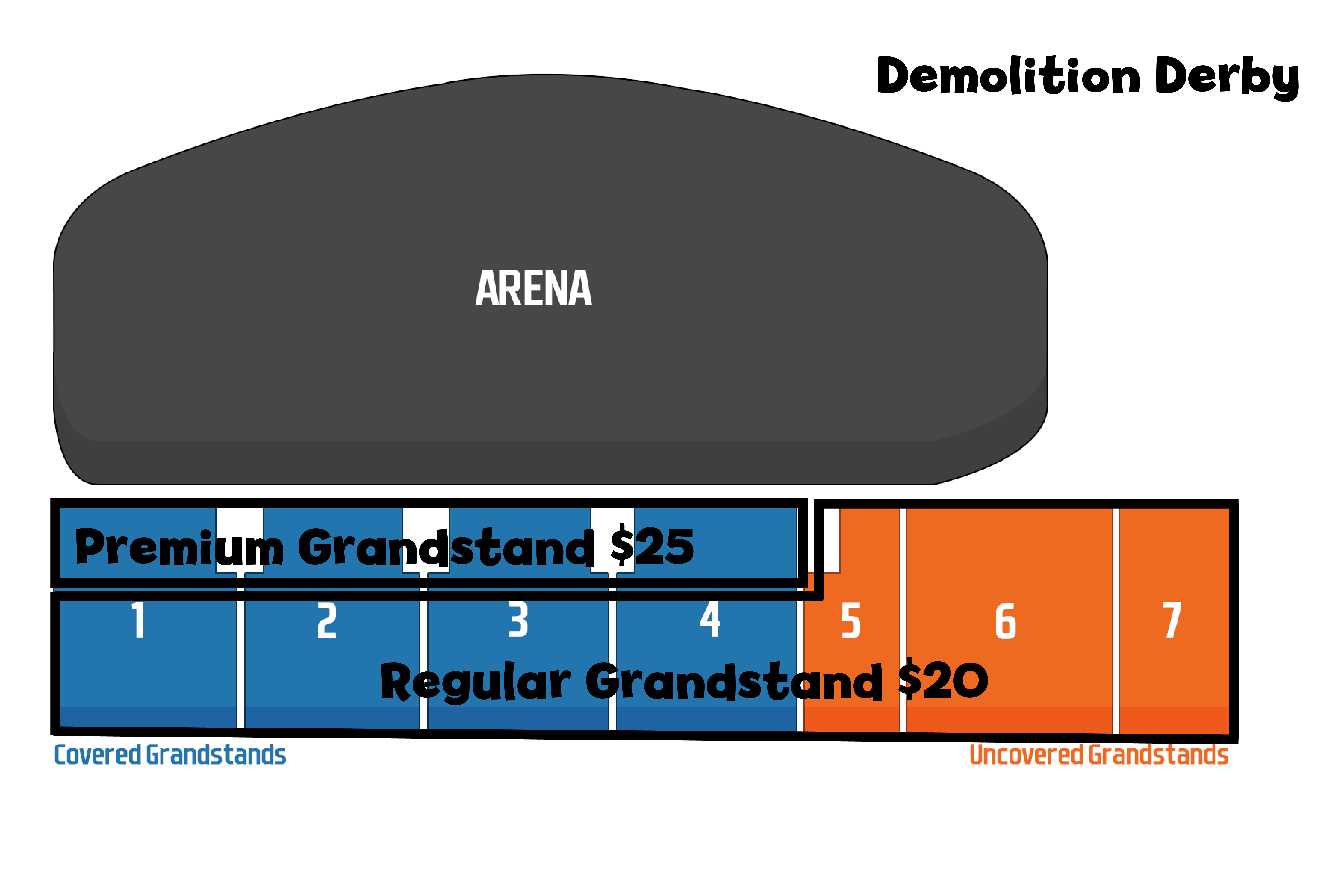 Grandstand Seating and Ticket Prices